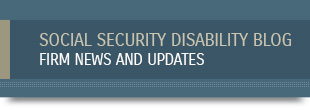 Visit our social security disability blog!